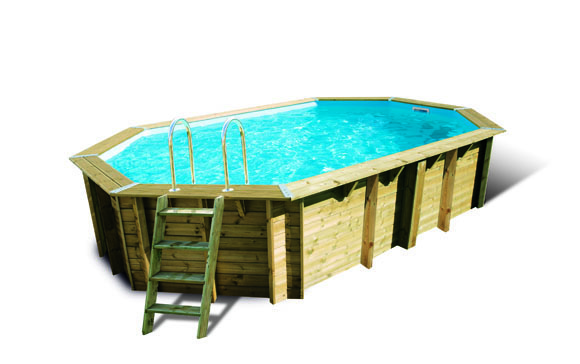 Liner piscine bois for Liner piscine octogonale bois