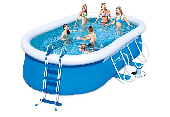 Piscine hors sol ovale gonflable