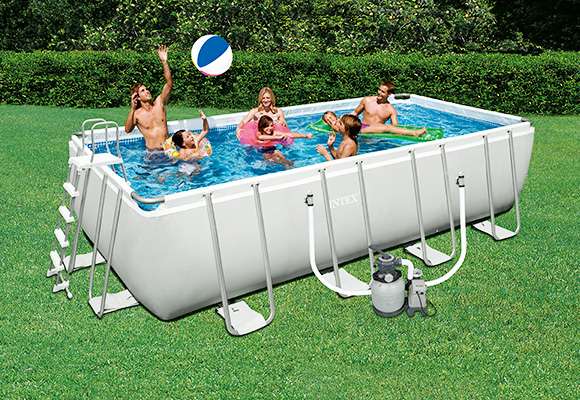 Piscine hors sol rectangulaire une piscine extra large for Piscine hors sol nil plus