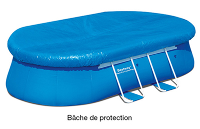 Piscine hors sol fast set pools ovale 4 88 x 3 05 m h 1 for Bache piscine elastique