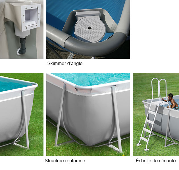 Piscine hors sol tubulaire easy 4 48 x 2 53 m h 1 25 m for Piscine tole hors sol