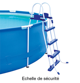 Piscine hors sol steel pro frame pools 4 27 m h 1 00 for Echelle piscine tubulaire