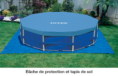 Piscine hors sol metal frame 4 57 m h 1 22 m intex for Piscine hors sol 4 57x1 22 m