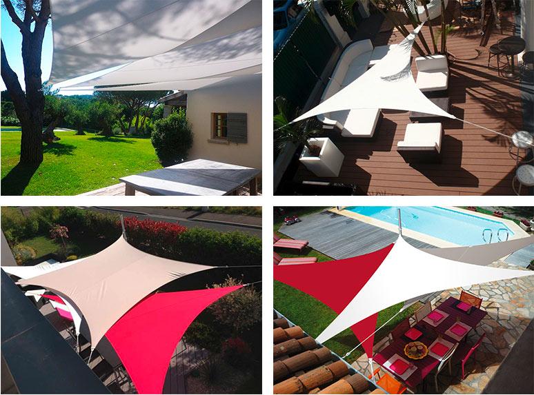 voile d 39 ombrage rectangulaire 3 x 4 50 m framboise. Black Bedroom Furniture Sets. Home Design Ideas